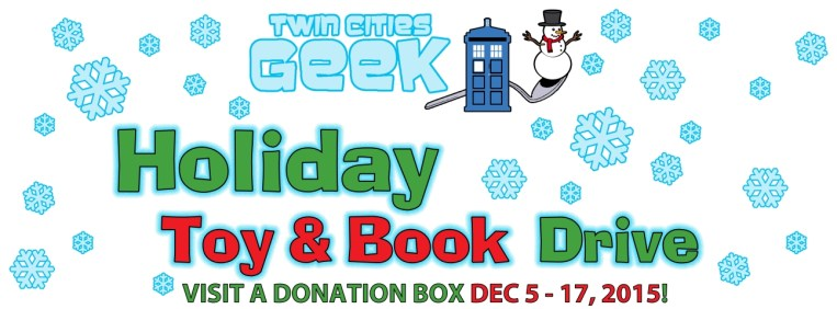 Twin Cities Geek Holiday Toy Drive Graphic
