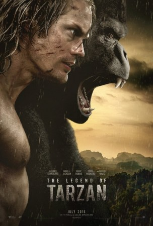 The Legend of Tarzan movie poster showing Tarzan and a Gorilla