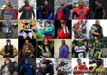 Last year's collage of 24 black male cosplayers.