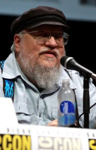 Photo of George R. R. Martin speaking at a panel
