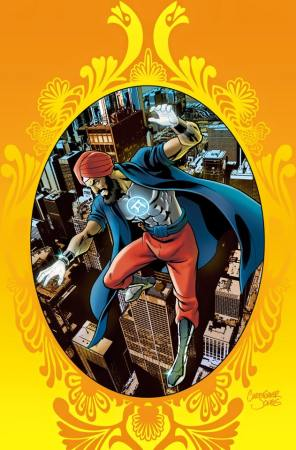 The cover to issue 1 of Super Sikh, by Twin Cities native Christopher Jones