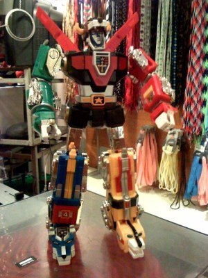 A Voltron toy