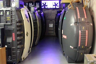 Some of the Tesla pods at Fallout Shelter Arcade