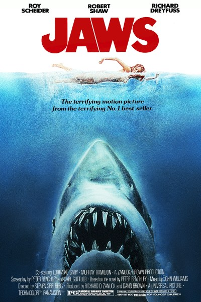 Theatrical poster of the movie Jaws