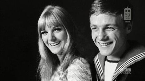From BBC America: Anneke Wills and Michael Craze in Doctor Who. 2016 marks the 50th anniversary of Wills as Polly.