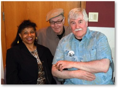 Jacquie Maddix - Dean Johnson - Jerry Stearns at the studio of KFAI community radio