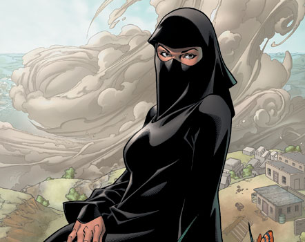 Dust, or Turaab in Arabic, is a fairly new character in the X-men comics Universe. Image courtesy of Marvel Entertainment