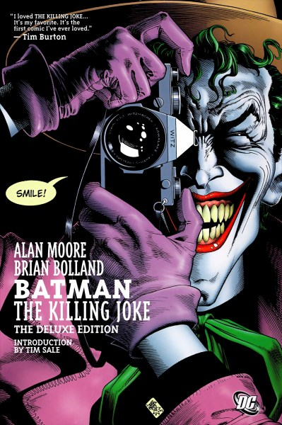 Cover featuring the Joker taking a picture with an evil grin