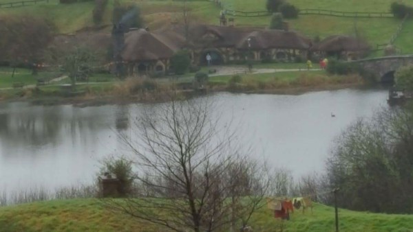 Green Dragon Inn from vantage point of Bag End.