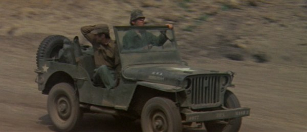 Hawkeye and Duke steal another jeep in M*A*S*H.