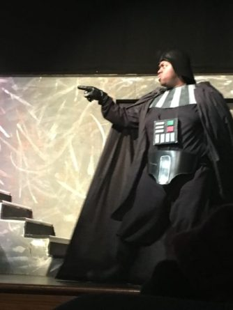Matt Allen as Darth Vader singing a musical number from Star Wars: Episode IV - A New Hope