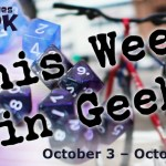 This Week in Geek header for October 3 through 9, 2016