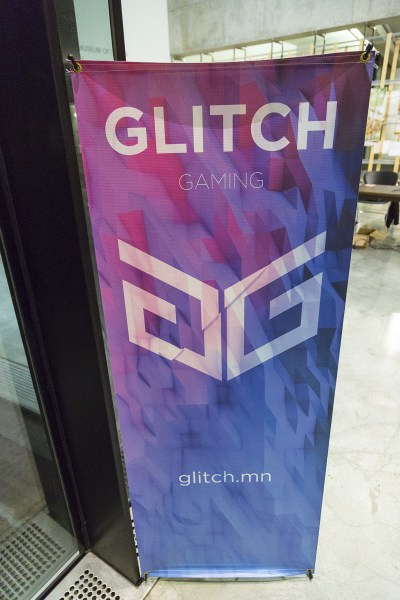 A Glitch gaming banner