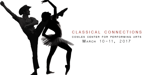 Dancers in a promotional image for the Classical Connections program