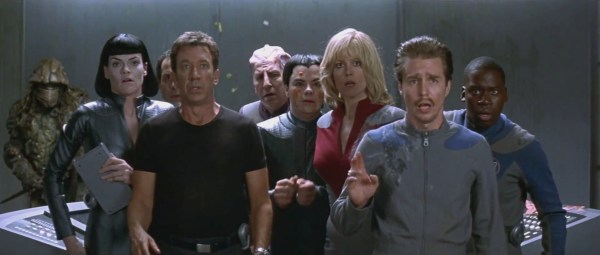 Missi Pyle, Tim Allen, Alan Rickman, Jed Rees, Sigourney Weaver, Sam Rockwell, and Daryl Mitchell.
