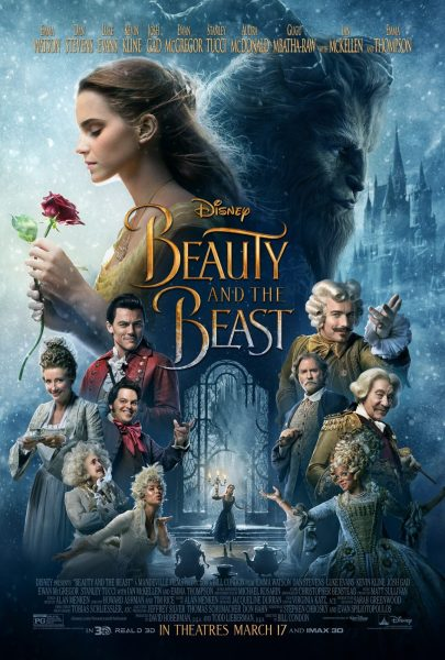 Beauty and the Beast poster, featuring the main and supporting characters