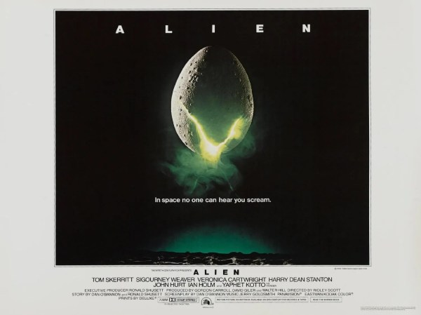 Lobby poster for Alien with the tagline: In space no one can hear you scream.