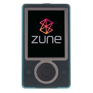 A Microsoft Zune mp3 player