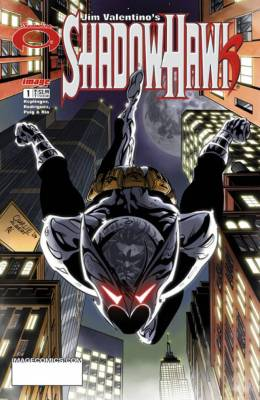 The cover of the first issue of Jim Valentino's ShadowHawk