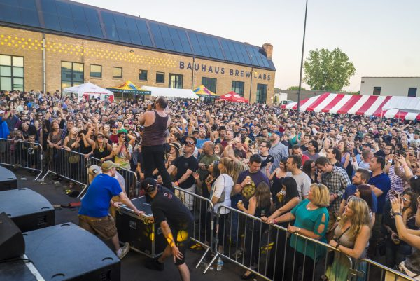 A view of the huge crowd at the 2016 Bauhaus Brew Lab's Liquid Zoo