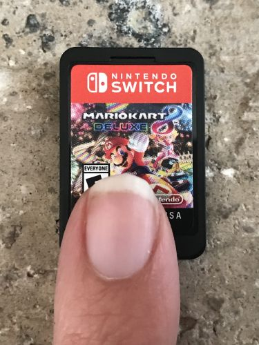 Switch game next to finger