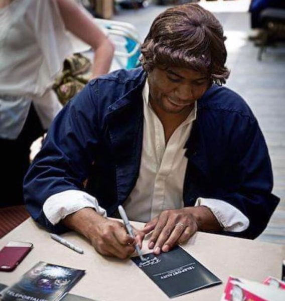 A black Han Solo cosplayer