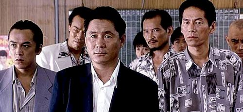Murakawa (Takeshi Kitano) and his Yakuza co-workers
