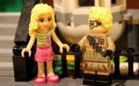 A mini-doll next to a minifigure