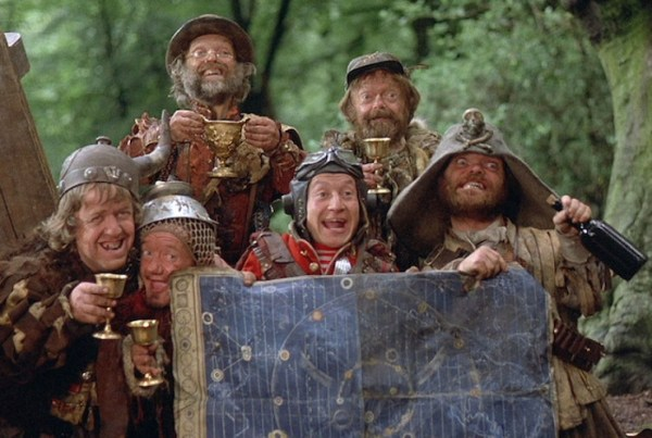 The dwarves holding up their map.