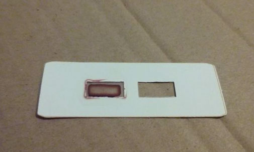 A microscope slide prepared with my blood.