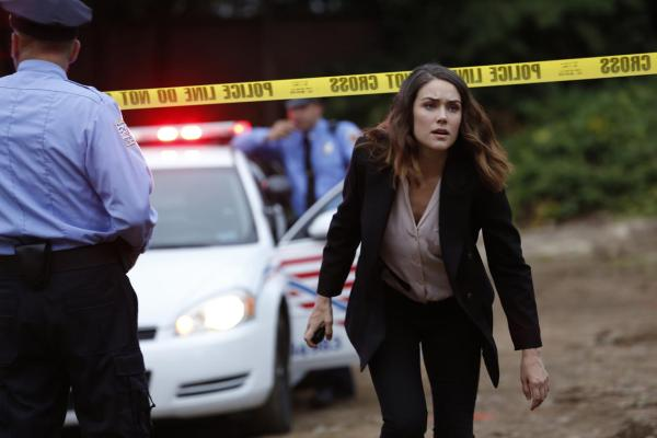 Liz at a crime scene