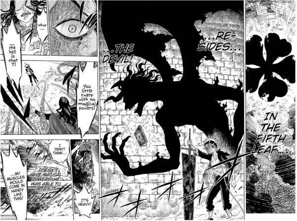 Black Clover chapter 1 manga spread