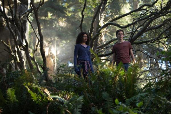 Meg and Calvin in a forest
