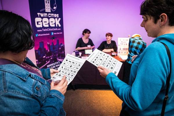 Twin Cities Geek table and scavenger-hunt bingo