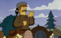 Jebediah Springfield gives the famous motto
