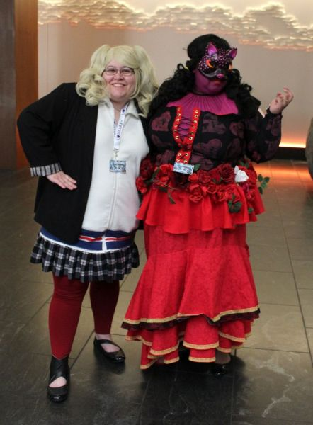Two women dressed as characters from Persona 5