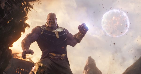 Thanos about to punch