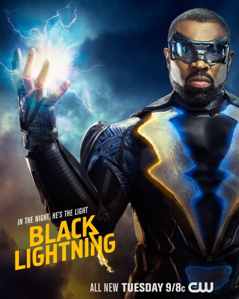 Black Lightning promotional poster: In the Night, He's the Light