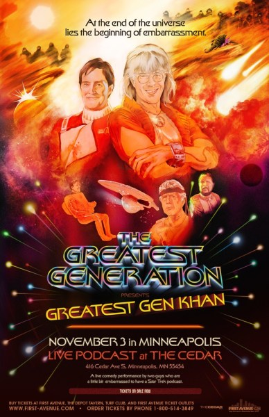 Greatest Generation Cedar Cultural show poster