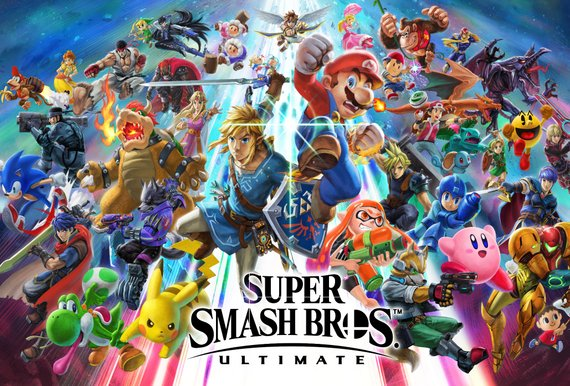 Super Smash Brothers. Nintendo Switch box art