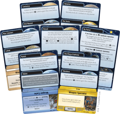 Encounter Cards (fanned)