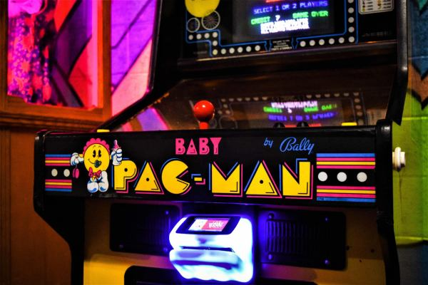 An image of a Baby Pac-Man arcade game.