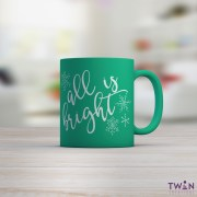 All is bright mug green with background