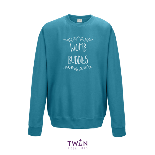 Womb Buddies Teal Jumper