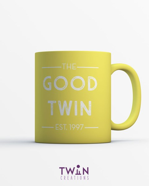 good twin mug yellow