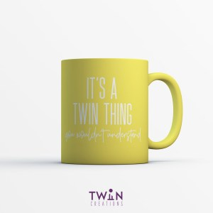 It's A Twin Thing Mug Yellow