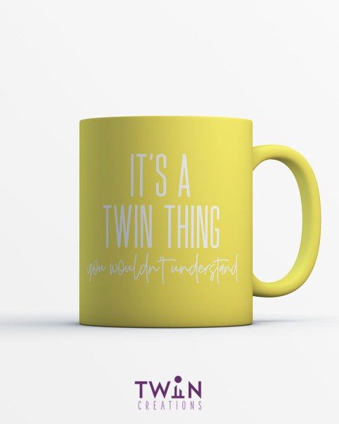 twin thing mug yellow