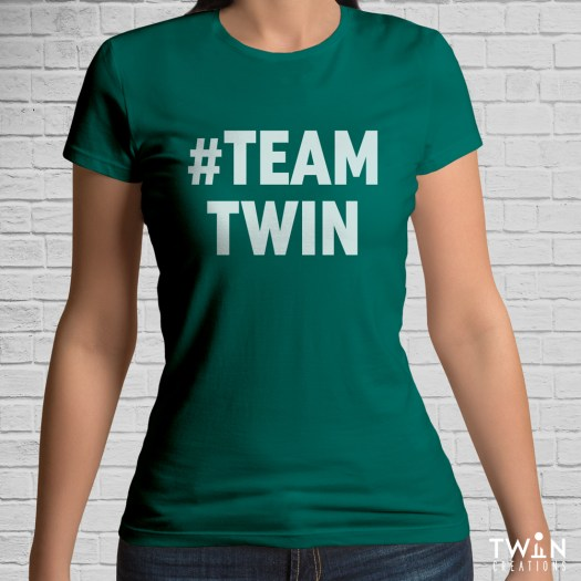 #TEAMTWIN Bold T-Shirt Green