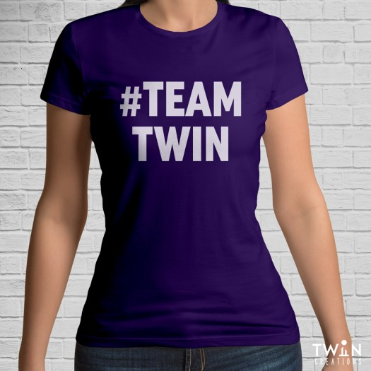 #TEAMTWIN Bold T-Shirt Purple