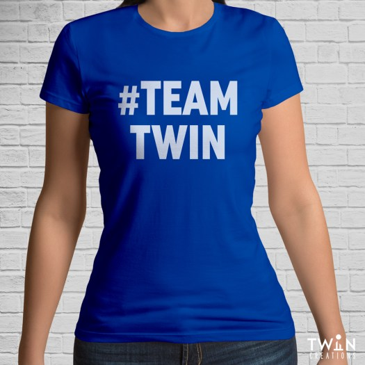 #TEAMTWIN Bold T-Shirt Royal